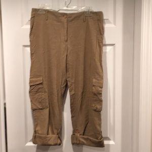 Pants - Tan Cargo pants or capris